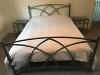Iron Bed Frame and Tables