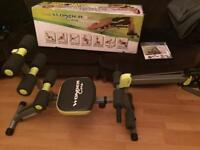 Wondercore 2 home gym total exercise system folds for easy storage