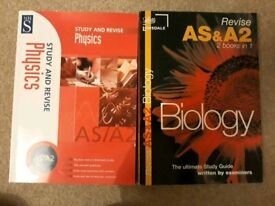 AS / A2 biology and physics books
