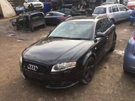 Audi A4 Avant 2.0 TDI S Line 5dr black (04 - 07) breaking for parts