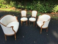 Original Antique French Salon Suite
