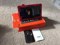 """Amazon Fire Tablet, 7"""" Display, Wi-Fi, 8 GB (Black) - Includes Leather case"""