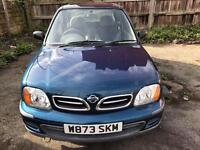 NISSAN MICRA 1.0cc s 16VALVE 6 MONTHS MOT DRIVES EXCELLANT 2000MODEL £350