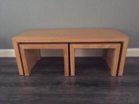 Coffee table and matching 2 side tables