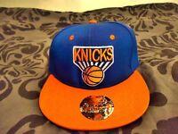 Blue/Orange NY Knicks Mitchell & Ness Snapback Hat Cap: Basketball NBA. Unisex. New York Yankees