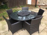 Ratten garden table and chairs