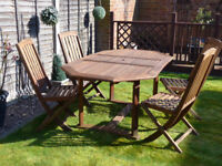 Patio Garden Table and 4 Chairs