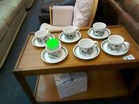 Portmeirion botanic gardens 6 cup and saucers £20 ( cups have different designs) £20