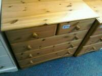 Pine chest of drawers #32837'£40