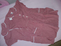 Bundle of 2 brand new ex M&S Gingham Red School Summer Dresses for 6 years, 100% cotton.