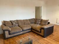 DFS corner sofa, chair and footstool