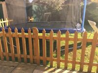 Garden Picket Fence with Double Gates 16M long with Posts in Harvest Gold