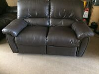 Leather two seat sofa