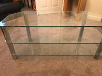 Glass TV Stand (unit) - 3 Shelves