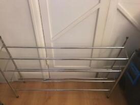 Silver shoe rack