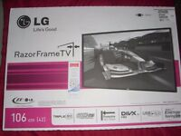 """FAULTY LG 42PA4500 42"""" PLASMA TV. BOUGHT NEW 2012. BOXED EVER SINCE 1 WEEK USE."""