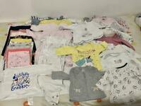 *** Baby girl bundle from new born 1-3 months.50+ items Petit Bateau etc