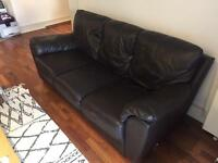 Collect today! Leather sofa, 3-seater