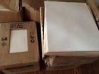 Tiles white ceramic (4 boxes)