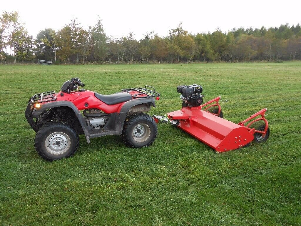 HONDA TRX350 4WD FOURTRAX QUAD BIKE C/W WITH SNOW PLOW - QUAD ONLY - MOWER AVAILABLE SEPARATELY