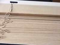 Venetian blinds x2 wide slat light wood effect