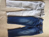 Two pairs of Girls Next Jeans, 4yrs