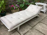 1970s Chic. French Sunbed & Drinks Trolley