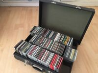 CD collection - 200+ CDs Indie/Rock/Pop plus CD carry case