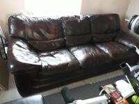 leather sofa large 3 seater used