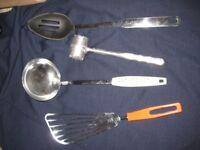 Egg Flip, Strainer, Ladle and Meat Tenderiser