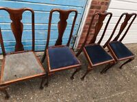 4x Queen Anne Chairs