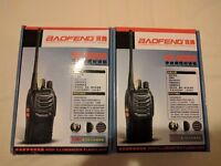 2 x Baofeng BF-888s Walkie Talkie Portable Two Way Radio
