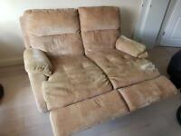 Free to good home 2 seat recliner sofa