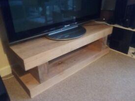 Chunky Rustic Oak TV Stand