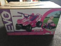 Girls pink electric quad bike