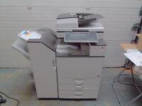 RICOH MPC6003 A3 A4 COLOUR PHOTOCOPIER PRINTER SCANNER + BOOKLET MAKER 60PPM, ASHFORD IN KENT