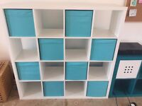Ikea shelves white