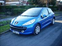2008 08 REG PEUGEOT 207 1.4 M-PLAY 3 DOOR MET .BLUE LOW PRICE £1150