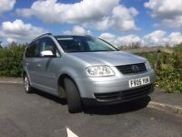 VW Touran for sale, 2.0 Tdi SE in silver with alloys and 7 seats. Family owned last 4 years.