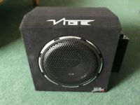 vibe car sub + mono block amp