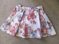 Girls Floral Monsoon Skirt Age 11-12 yrs