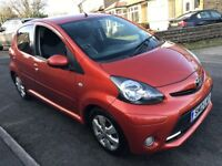 2012 TOYOTA AYGO FIRE 1.0 PETROL 5 DOOR HATCHBACK IN STUNNING ORANGE