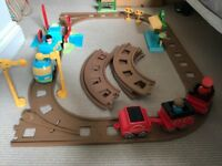Happy land train track set/ station
