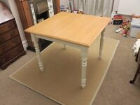 JOHN LEWIS Dining Table 90x90cm, 75cm tall, Solid Birch Top, Fantastic As-new Condition