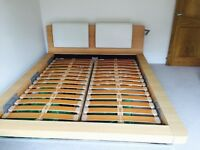 Queen size Hulsta wooden bed frame (matching side draws available to sell £50 the pair)