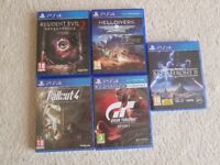 PS4 Games - Star Wars Battlefront 2, Gran Turismo Sport, Fallout 4, HellDivers, Resident Evil 2