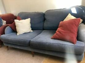 Sofas x2 and armchairs x2 for Sale! Solid beach Wood frame and legs.