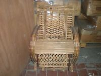 New wooden garden chairs