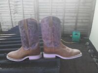Genuine handmade distressed American cowgirl boots