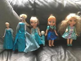 Elsa, Anna, rapunzel singing dolls selection